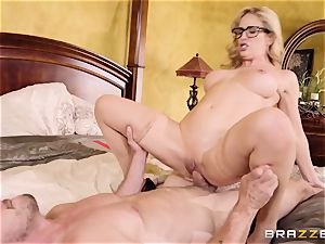 super-naughty towheaded Cherie Deville humped doggy style