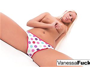 Vanessa box Plays With Her slit