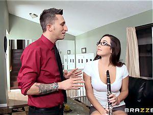 horny schoolgirl Karlee Grey pounds her music schoolteacher