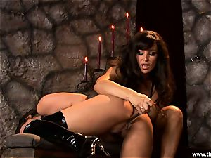 Alluring Charley haunt gets toy romped by Lisa Ann
