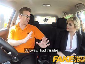 fake Driving school Posh ultra-kinky buxom examiner