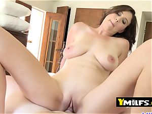 Alice Chambers loves riding on her fellow s phat pink cigar