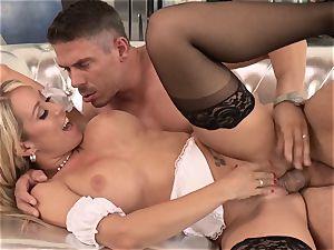 sexy maid Capri Cavanni drilled by a nasty customer