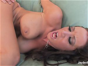 big-chested brown-haired Jayden gets a hard-core banging