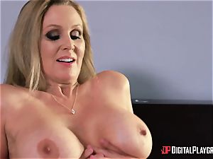 orgy with buxom housewife Julia Ann and her stepdaughter