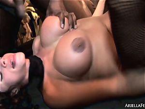 horny Ariella Ferrera is tucked up her moist cooch