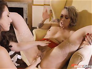 Eva Lovia and Angel lengthy love to gobble pussyhole