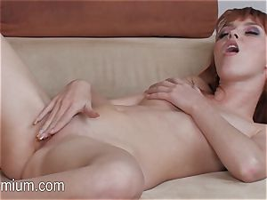 Marie McCray touches her cock-squeezing cooter