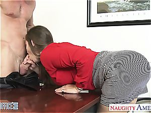 tempting Dani Daniels leans over for a good tear up from behind