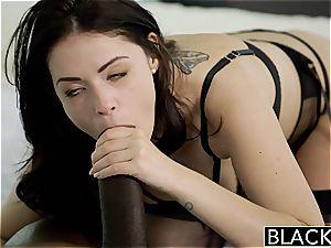 Ava Dalush adoring black lollipop