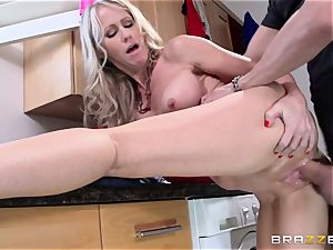 Mean mommy Simone Sonay gets fucked by daughters dude