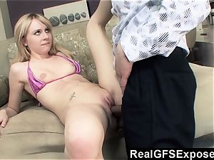 RealGfsExposed Her stepfathers huge dick