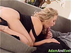 stunning couple Mia Malkova and Danny Mountain pounding